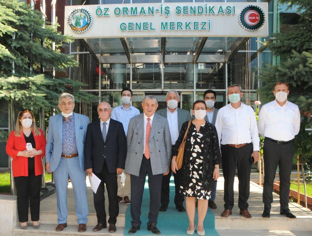 TİGEM GENEL MÜDÜRÜ ÖZ ORMAN-İŞ'İ ZİYARET ETTİ