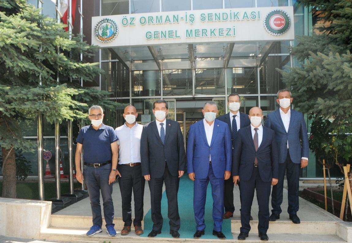 ORMANSPOR YÖNETİMİ ÖZ ORMAN-İŞ'İ ZİYARET ETTİ