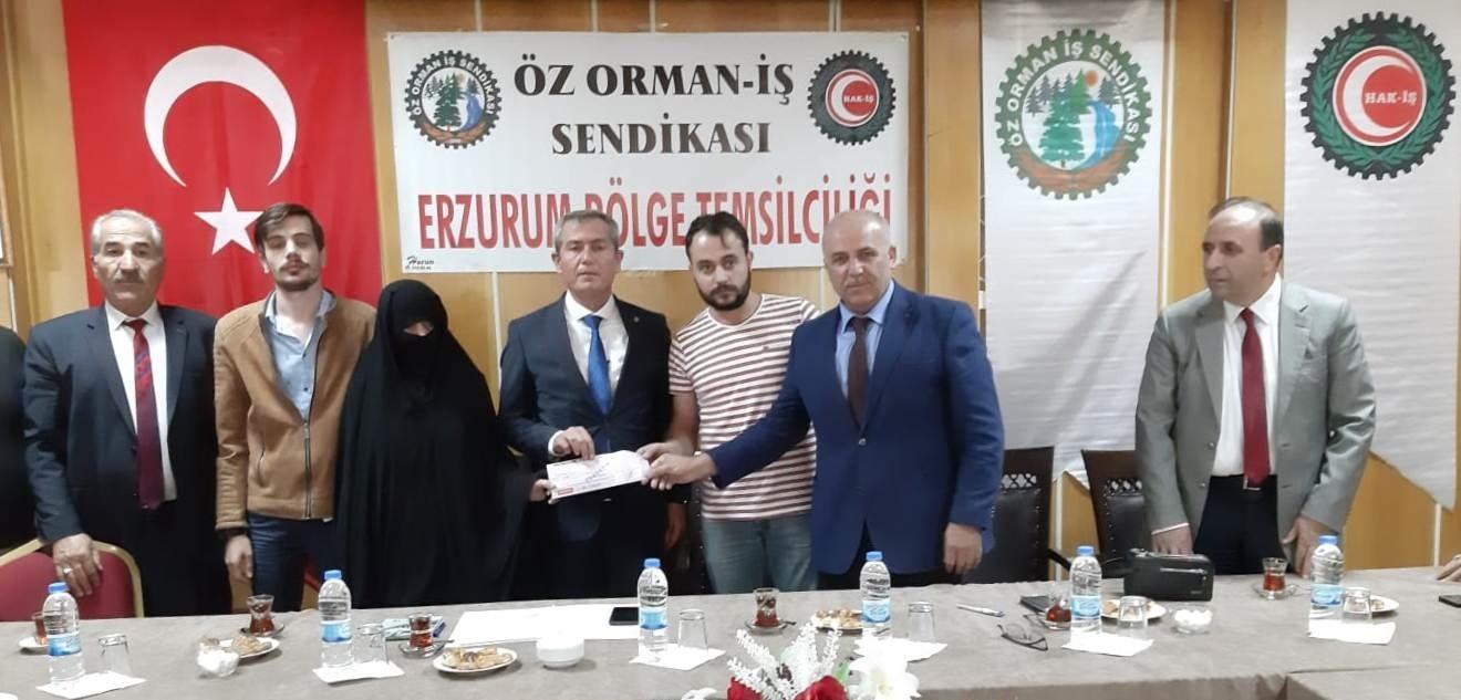 ERZURUM'DA FERDİ KAZA SİGORTASI ÖDEMESİ YAPTIK
