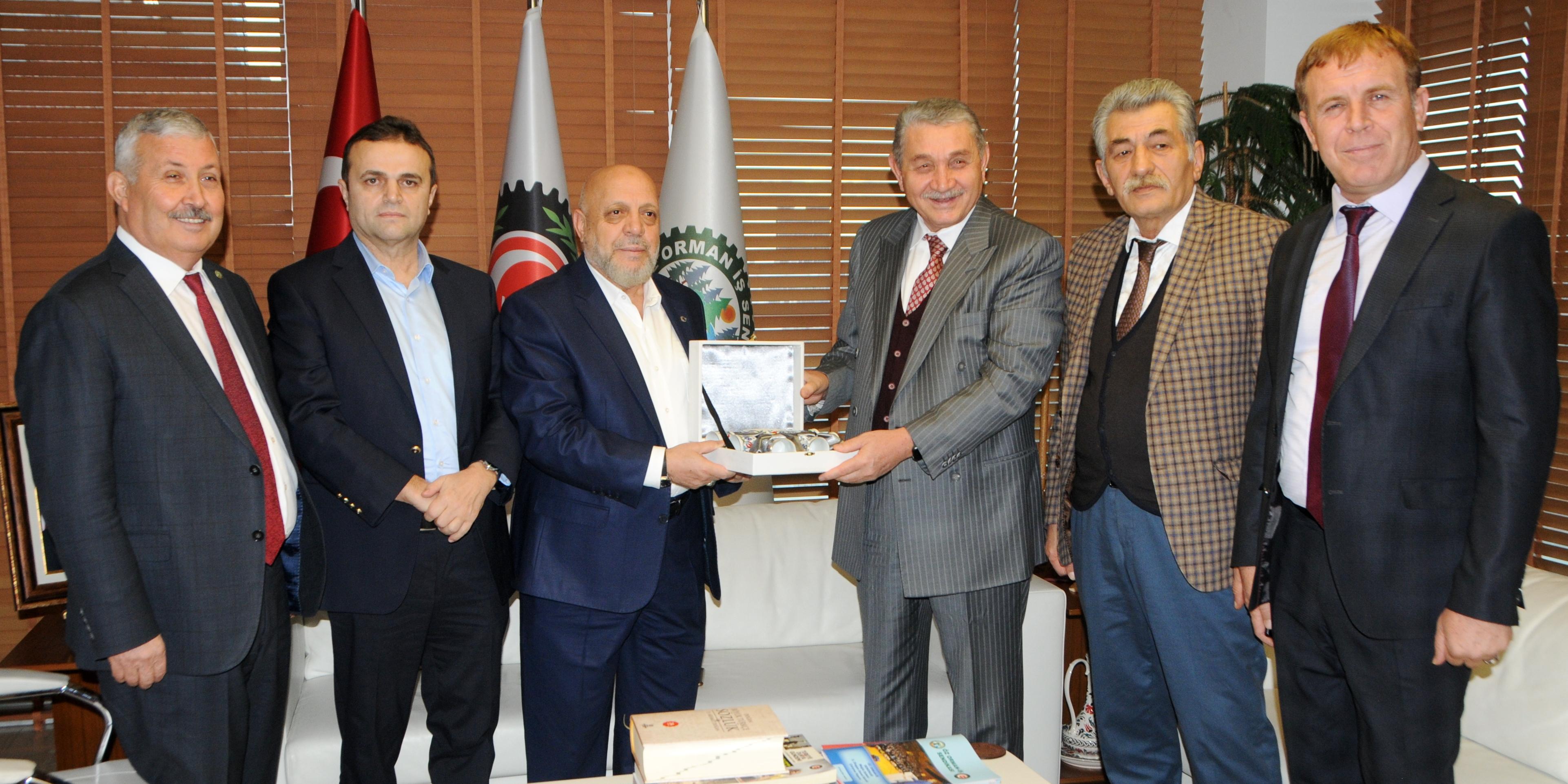 HAK-İŞ GENEL BAŞKANI ARSLAN ÖZ ORMAN-İŞ'İ ZİYARET ETTİ
