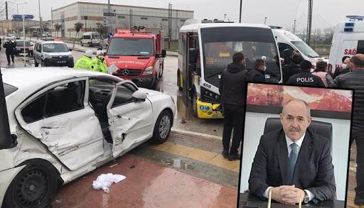 Çanakkale Orman Bölge Müdürü Enver Demirci trafik kazası geçirdi